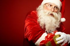 Distributing gifts Stock Image