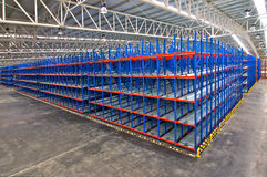 Distribution center warehouse storage shelving systems Royalty Free Stock Photo