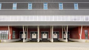 Distribution centre and docking station for trucks Royalty Free Stock Photography
