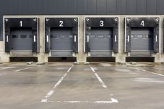 Distribution centre and docking station for trucks Stock Photo