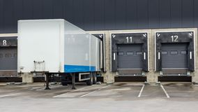 Distribution centre and docking station for trucks Royalty Free Stock Images