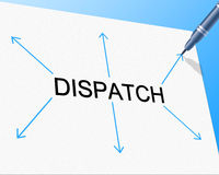 Distribution Delivery Represents Supply Chain And Delivering. Dispatch Distribution Showing Supply Chain And Shipping royalty free illustration