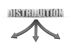 Distribution destination illustration design Royalty Free Stock Images