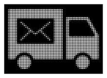 Distribution du courrier tramée blanche Van Icon illustration libre de droits