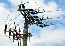 Distribution of Electricity Stock Photography
