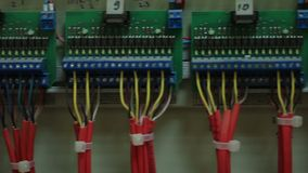 Distribution of the generator wiring shield. stock video