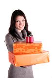 Distribution of presents Royalty Free Stock Photo
