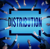 Distribution Sale Marketing Distributor Strategy Concept Stock Photos