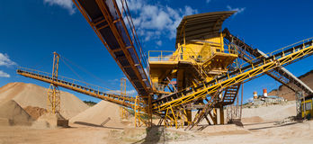 Distribution and Screening Plant Gravel Royalty Free Stock Photography