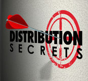Distribution Secrets Arrows Target Ideas Sharing Advice vector illustration