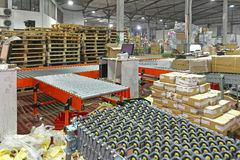Distribution Shipping. Sorting Cargo and Delivery Distribution Warehouse Stock Photo