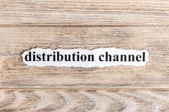 Distribution text on paper. Word Distribution on torn paper. Concept Image Stock Images