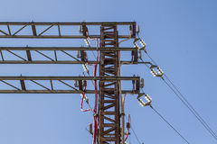 Distribution tower of the power grid Stock Image