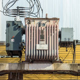 Distribution transformer system in Thailand Stock Photography