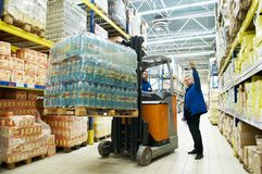 Distribution in warehouse Royalty Free Stock Images