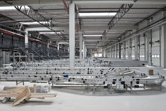 Distribution warehouse. A conveyor system in a warehouse Stock Photos