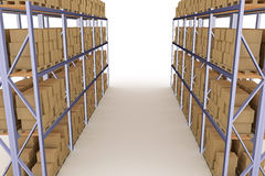 Distribution warehouse Royalty Free Stock Image