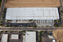Distribution Warehouse from Above Royalty Free Stock Image