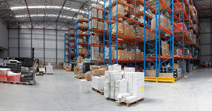 Distribution warehouse Royalty Free Stock Photo