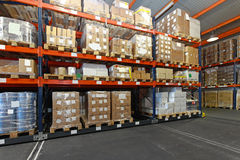 Distribution warehouse Royalty Free Stock Photography