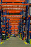Distribution Warehouse. The Pallet Racking in a Distribution Warehouse stock image