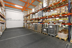 Distribution warehouse Royalty Free Stock Photos