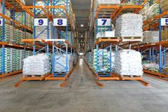 Warehouse shelving system Stock Photography