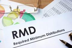Distributions minimum requises par RMD photos libres de droits