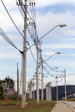 Distributon of electric energy Stock Photos