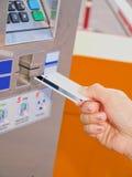 Distributore automatico del biglietto Fotografia Stock