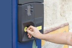 distributore automatico del biglietto di parcheggio Fotografie Stock Libere da Diritti