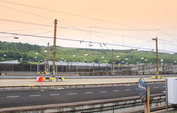 Distributore di benzina di Eurotunnel Immagine Stock Libera da Diritti