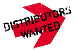 Distributors Wanted rubber stamp Stock Photography