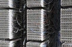 Distribuzione del pannello del cavo della telecomunicazione fotografia stock libera da diritti