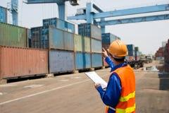 Distribuzione del porto marittimo Fotografia Stock