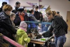 Distribuzione della mostra di carità degli animali dal riparo Fotografie Stock