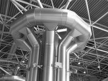 Distribuzione di condizionamento d'aria e di ventilazione Immagine Stock