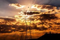 Distribuzione di energia di elettricità Immagine Stock