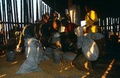 Distribuzione di viveri per la gente spostata in Angola Fotografia Stock