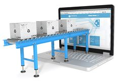 Distribuzione online Fotografia Stock