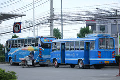 distric公共汽车路线Chiangmai和的煤斗 库存照片