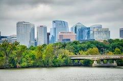 Distric ορίζοντας arlington του Ρόσλυν πέρα από τον ποταμό από την Ουάσιγκτον δ Στοκ φωτογραφία με δικαίωμα ελεύθερης χρήσης