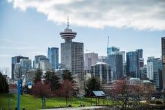 Districat di affari del centro del porto edificio di Vancouver Canada del punto di riferimento Immagini Stock Libere da Diritti