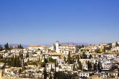 District of Albaicin, Granada. stock photo
