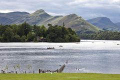 District Angleterre de lac water de Derwent Photo stock