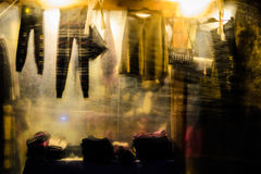 District Bazaar At Night Royalty Free Stock Images