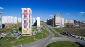 District of the city with new buildings Royalty Free Stock Photography