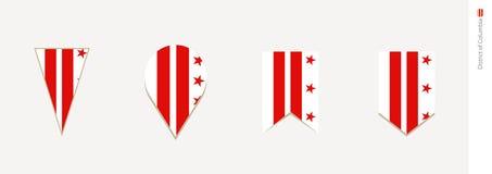 District de Columbia le drapeau dans la conception verticale, illustration de vecteur illustration de vecteur