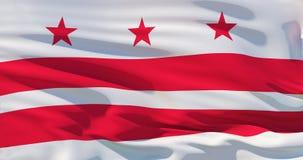 District de Columbia le drapeau Washington, C.C, illustration 3d illustration de vecteur