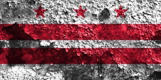 District de Columbia le drapeau, Washington, le Maryland et le V de fumée de ville illustration stock